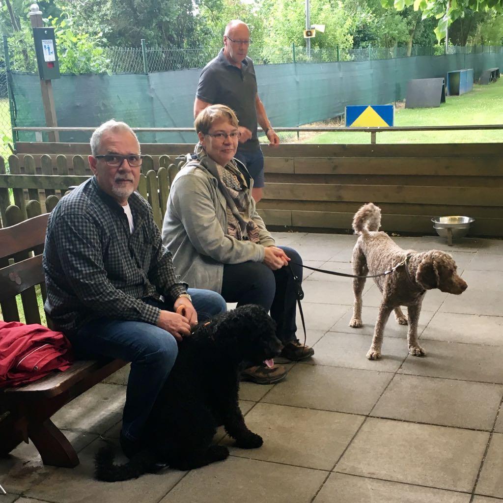 Antonino mit Diego und Daniela mit Eddie