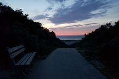 Weg zum Strand Nieuw-Haamstede am Abend