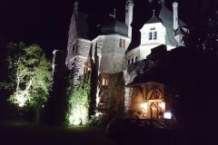 Schloss Garvensburg bei Nacht